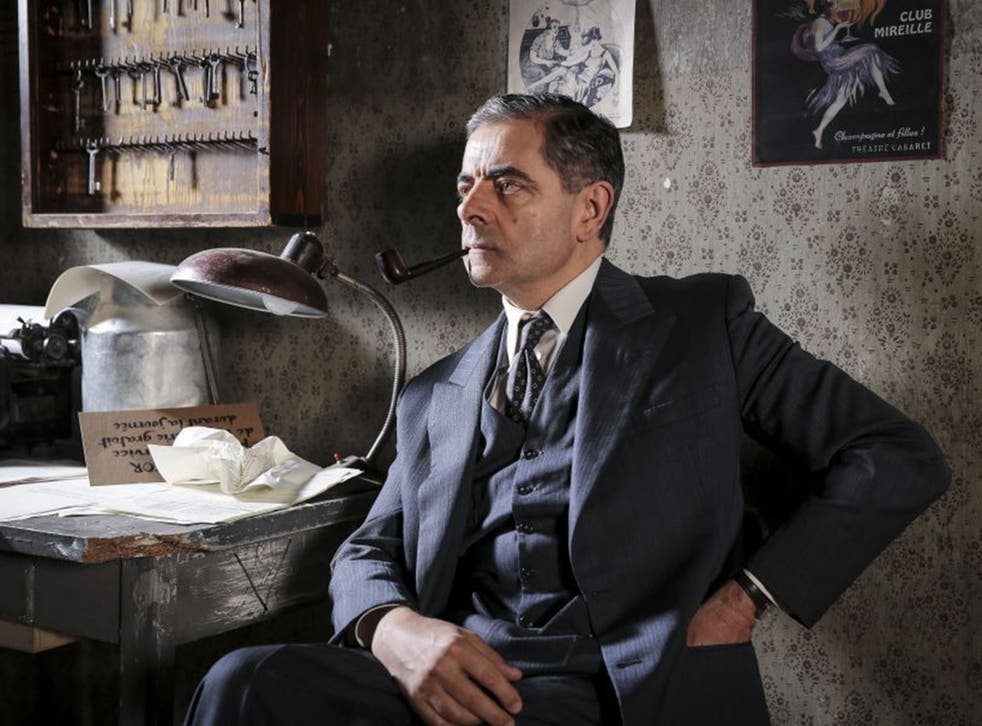 A serious Rowan Atkinson takes the title role in 'Maigret Sets a Trap'