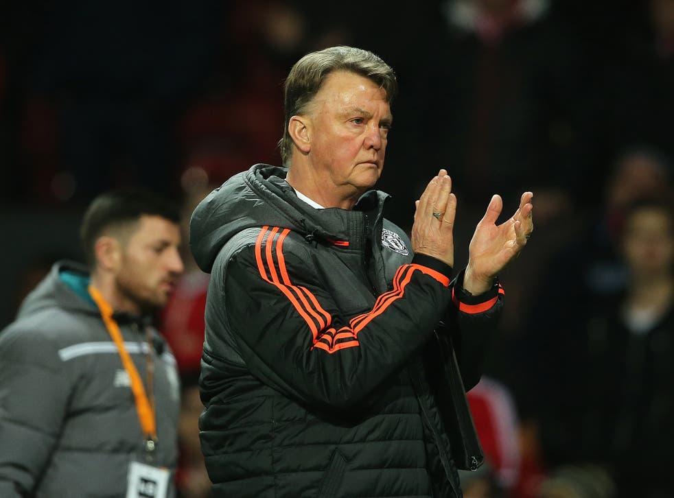 'I'm never feeling under pressure,' said Louis van Gaal