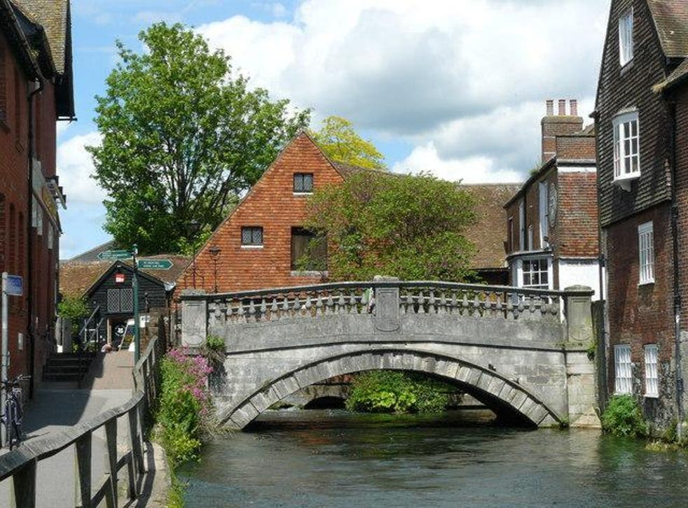 The river Itchen in Winchester