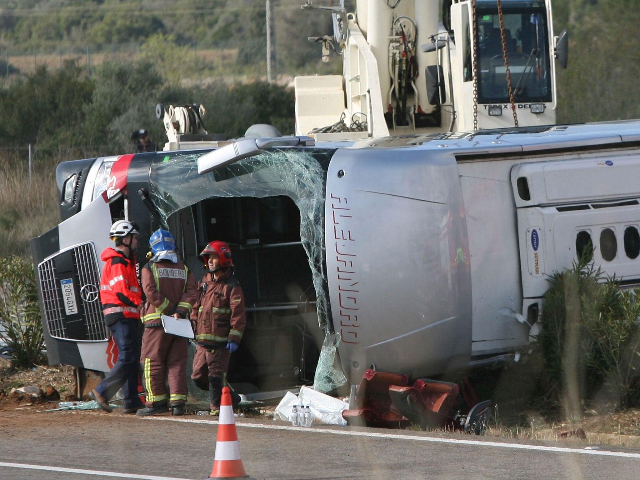 British and Irish students among those on board in fatal Spanish bus crash
