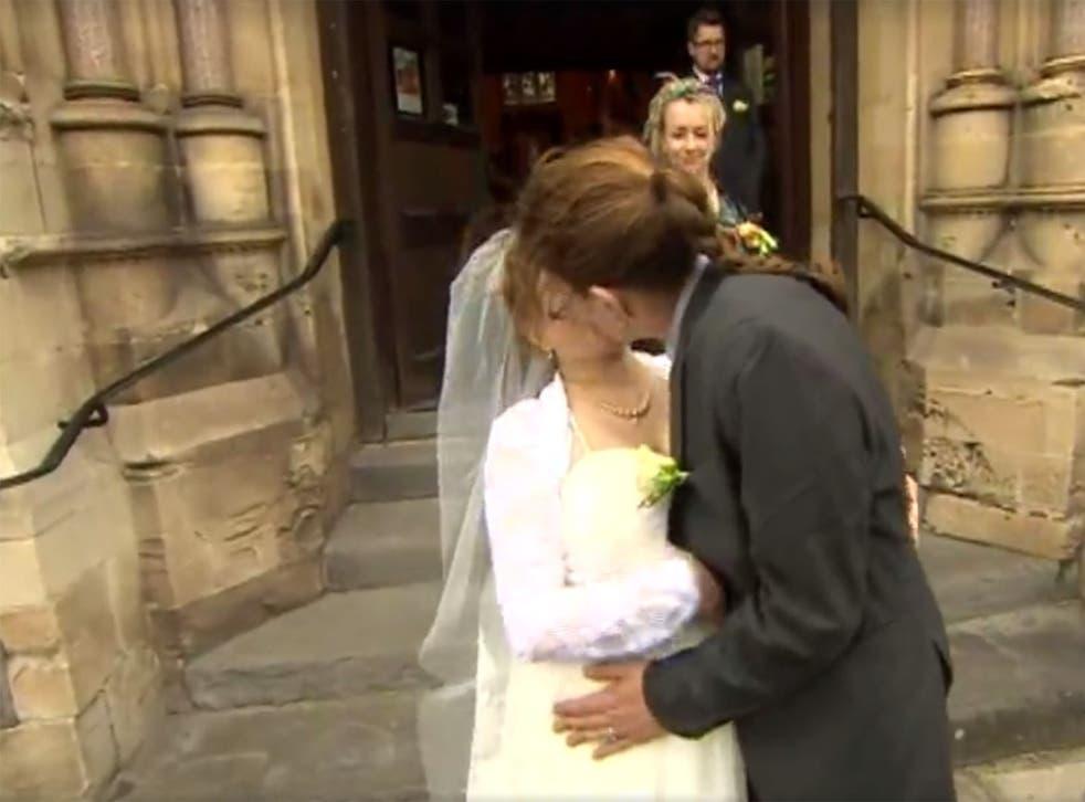 Jack Richardson and Toni Osborne get married