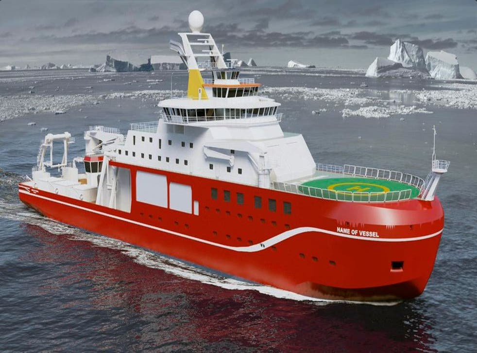 The NERC will have the final say on the name of it's new ship