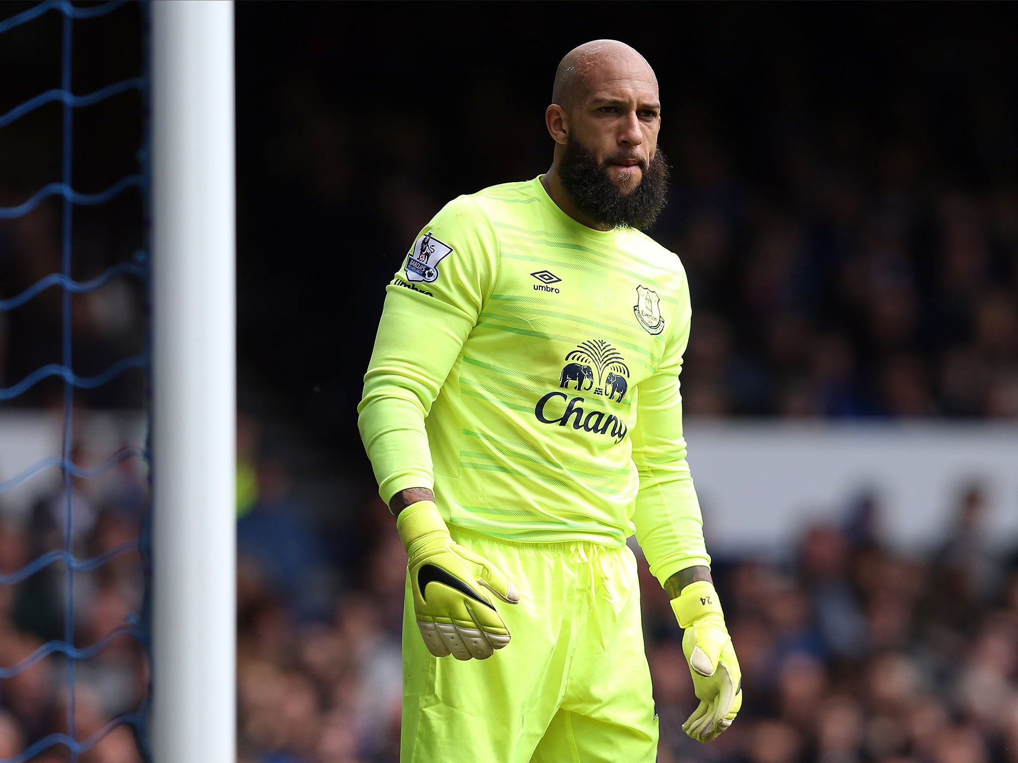 competitive price b6c74 57c9a Tim Howard leaving Everton: USA international joining ...