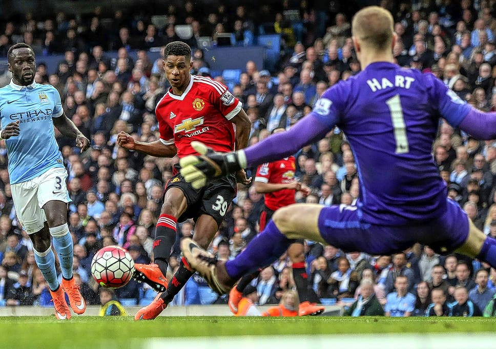 Image result for marcus rashford running with ball