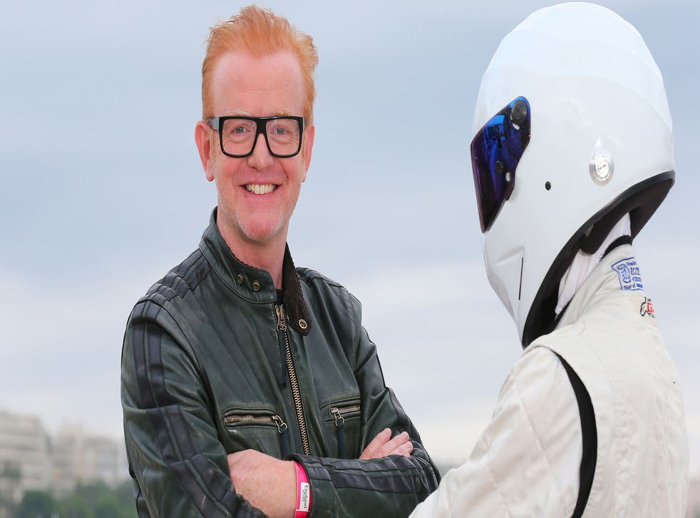 Top Gear presenter Chris Evans and 'The Stig'