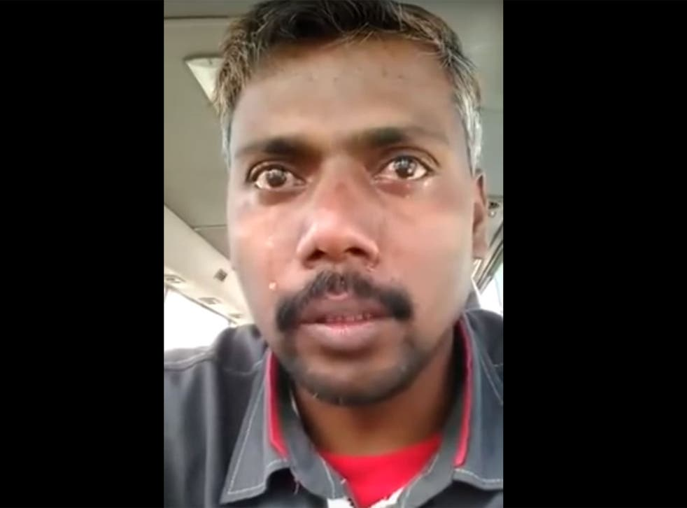 Mr Makandar has been jailed after this video went viral
