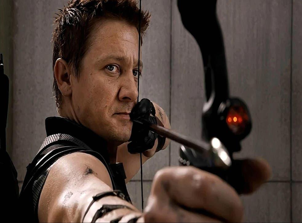 Jeremy Renner as Hawkeye in Marvel's The Avengers franchise