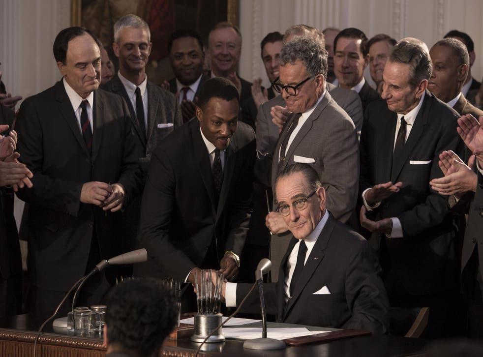 All the Way stars Bryan Cranston as President Lyndon B Johnson