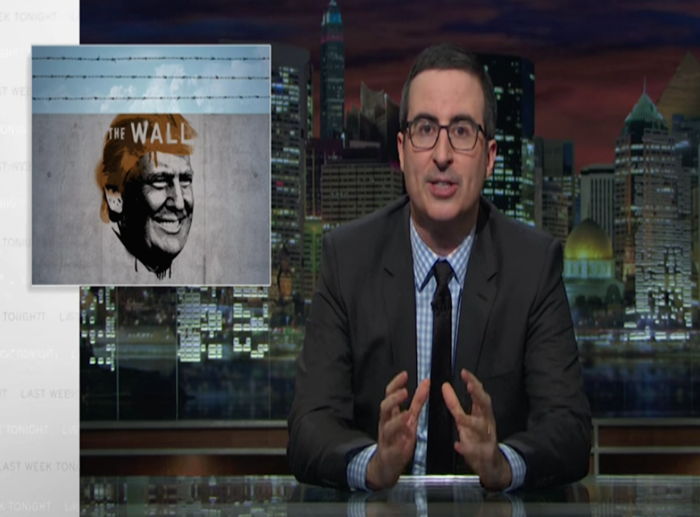 John Oliver sets his sights on Donald Trump's very serious campaign.