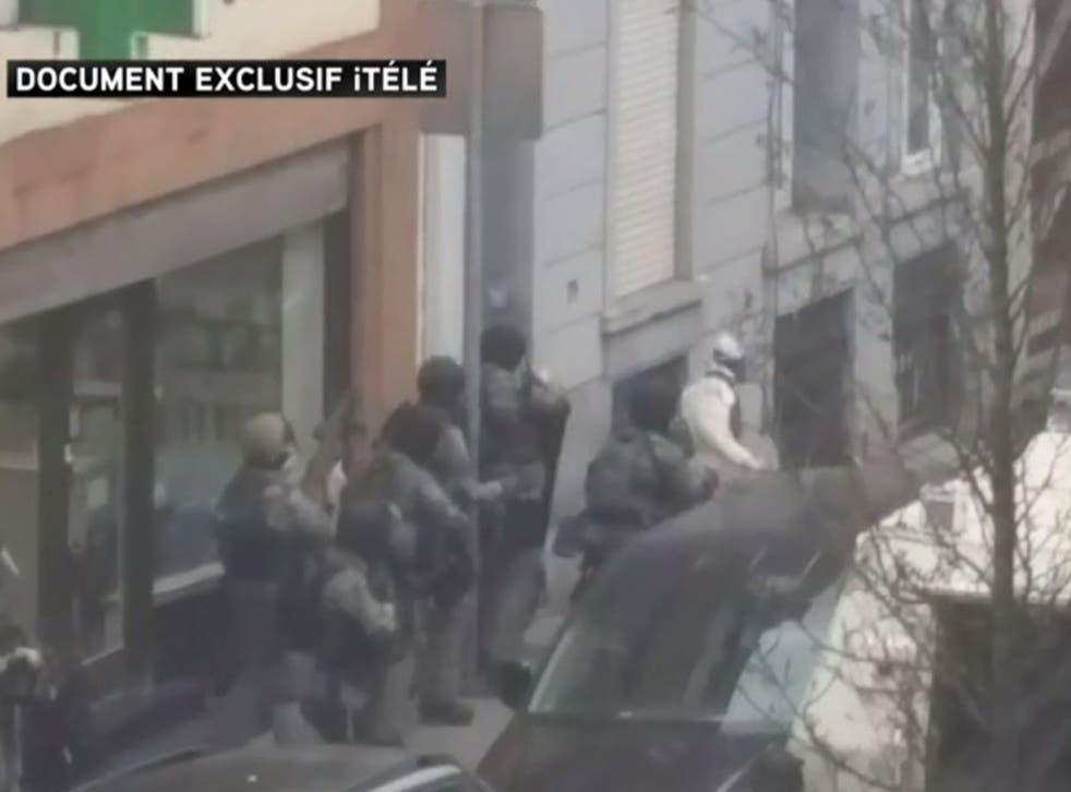 Abdeslam attempting to flee police marksmen in Brussels