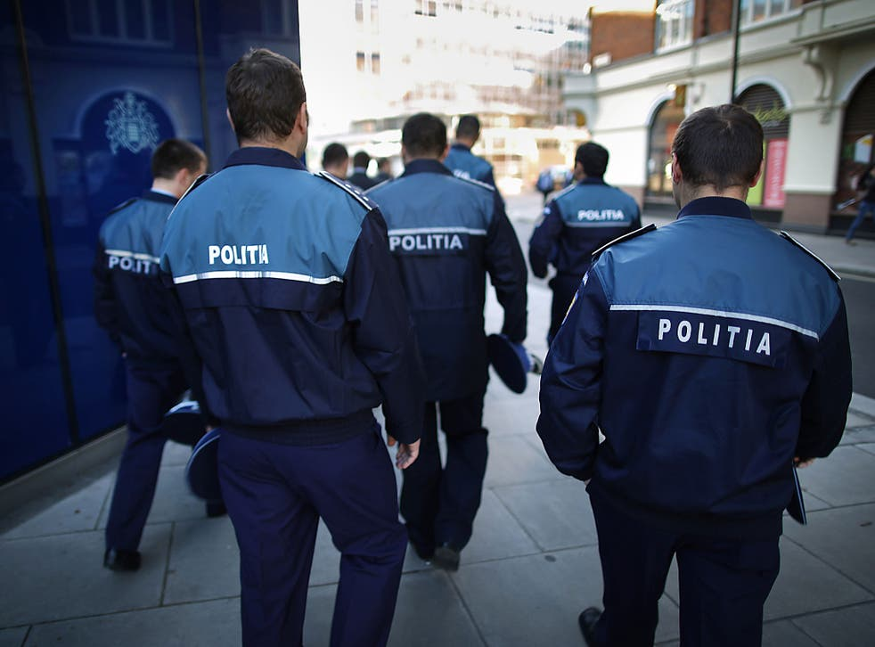 Romanian police on patrol. The country is among the most corrupt countries in the EU