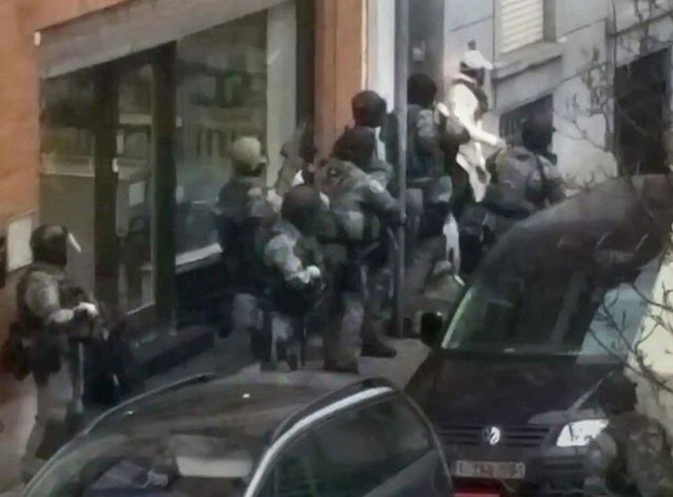 The raid in which Abdeslam was arrested in Brussels last week