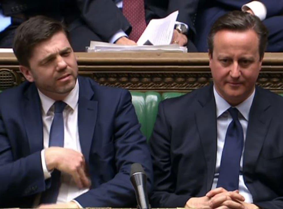 David Cameron with the new DWP secretary Stephen Crabb