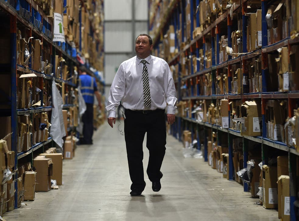 'Nothing to hide'? Mike Ashley at Sports Direct's warehouse in Shirebrook, Derbyshire