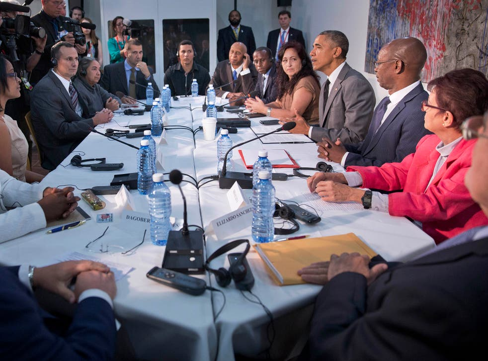 """Mr Obama said that Cuba's future would not be determined by the US but by the Cuban people, lauding their """"talent, pride and hard work""""."""