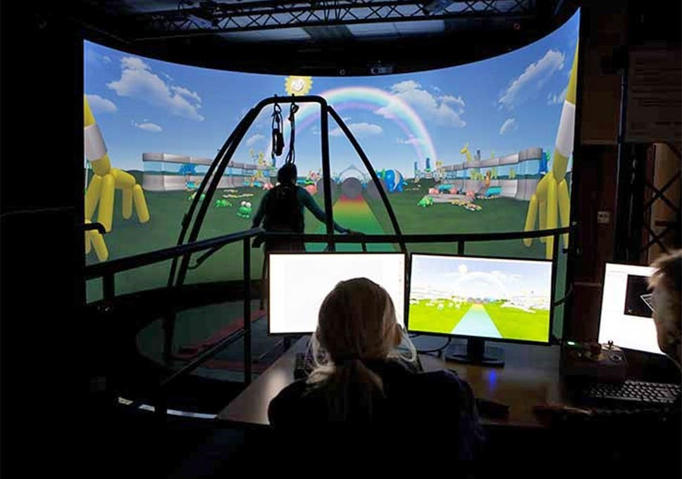 92cabe4095f5 People with dementia test-drive virtual reality rehabilitation system used  by injured soldiers to help their condition