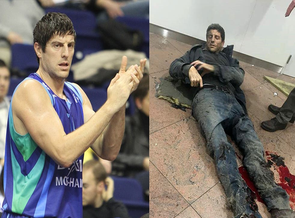 Sebastien Bellin was one of hundreds injured on Tuesday.