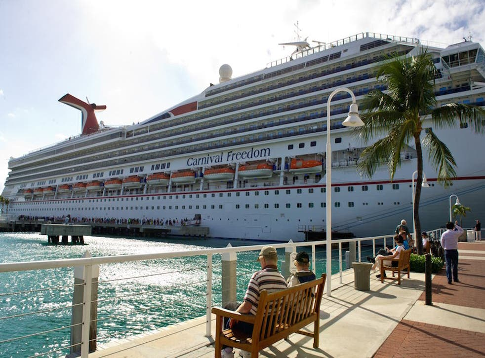 Carnival Freedom was one of the ships tested for the study