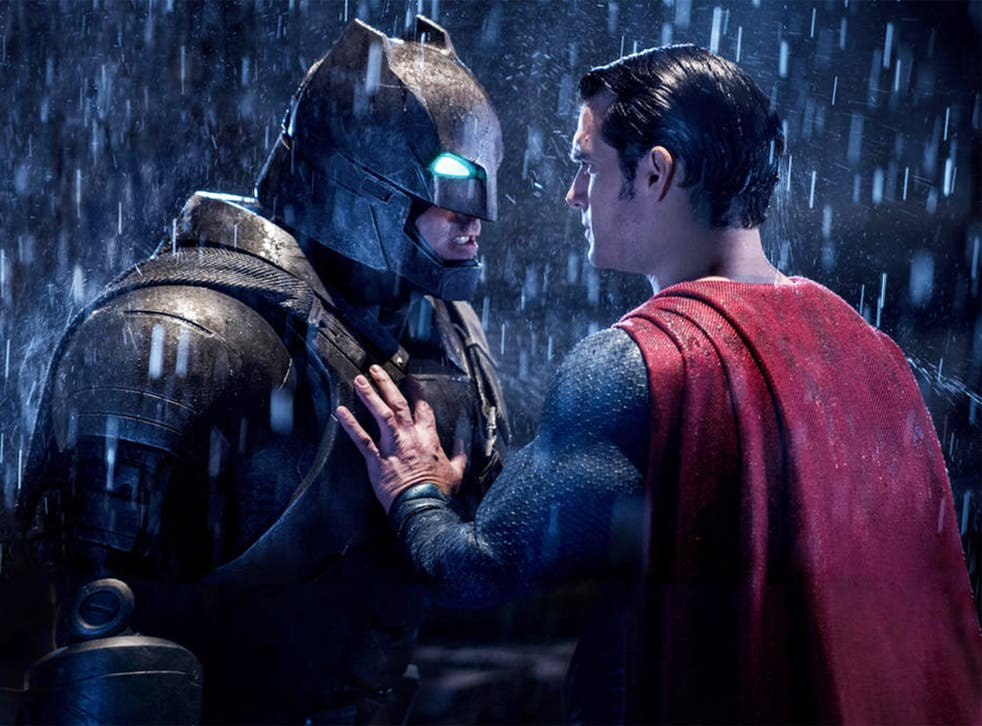 The titular superheroes square off in 'Batman v Superman: Dawn of Justice'