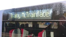 Trainy McTrainface saluted by commuters in Boaty McBoatface homage