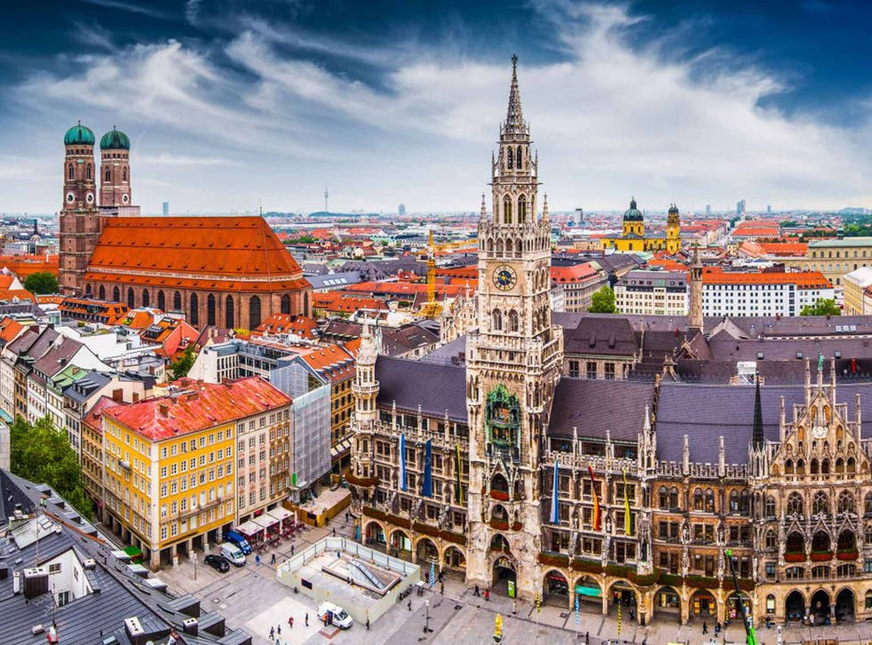 Teutonic towers: skyline with City Hall