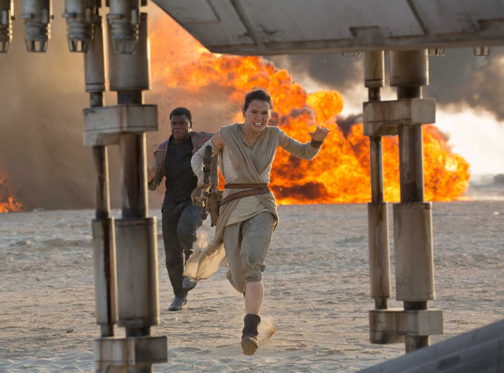Star Wars: The Force Awakens scene with Finn