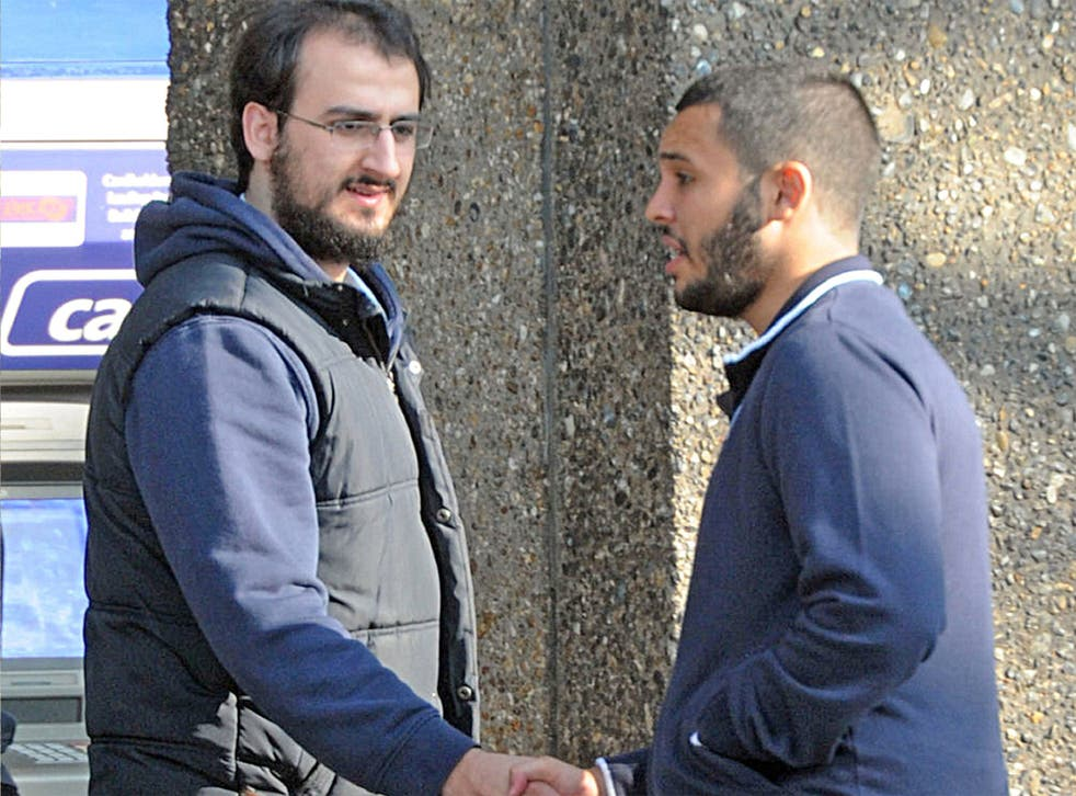 Suhaib Majeed (left) and Tarik Hassane, pictured while under surveillance