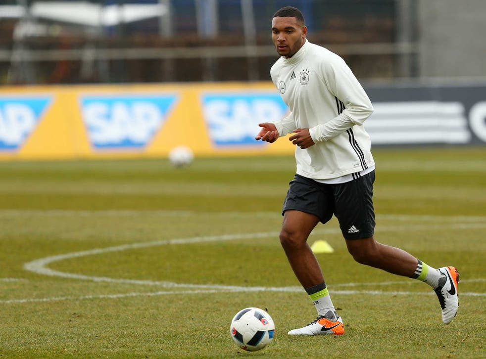 Tah trains yesterday ahead of Germany's friendlies against England and Italy