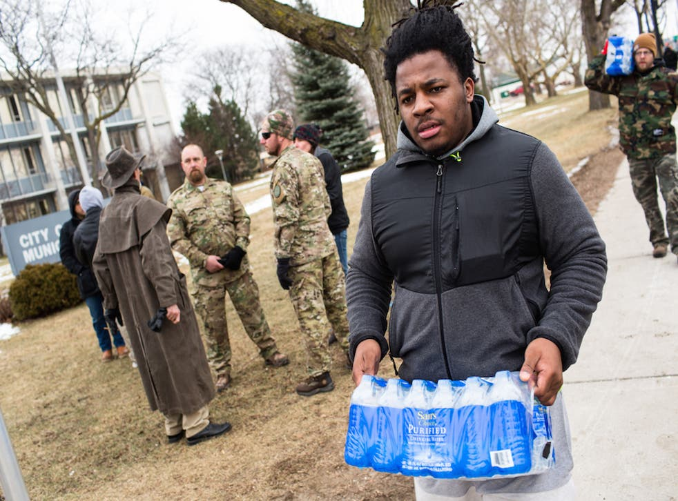 The federal government has been funding supplies of bottled water to the city since January