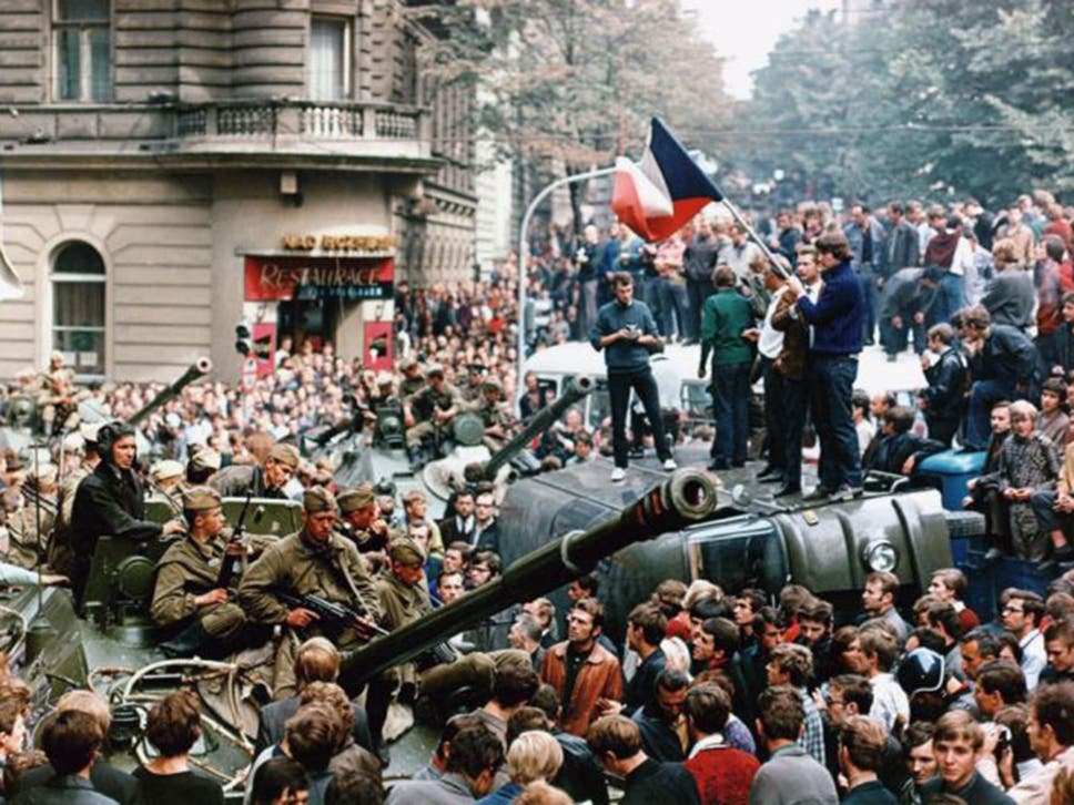 Soviet tanks arrive to crush the 'Prague Spring'