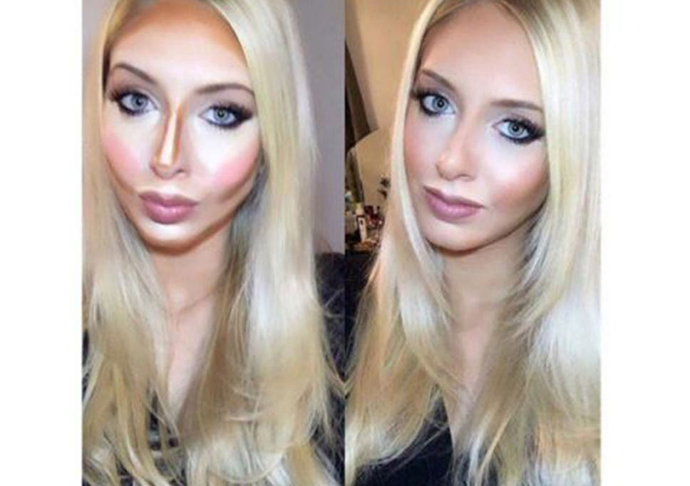 2fc6d351a50 Contouring: Secrets of the make-up trick made famous by Kim Kardashian