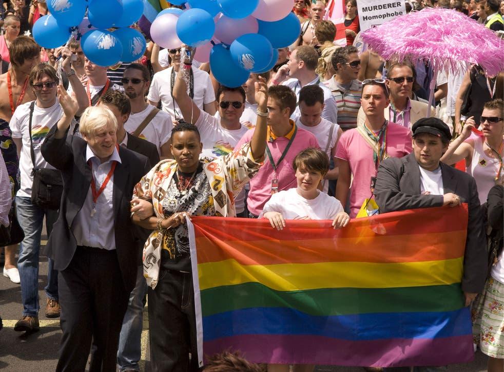 Boris Johnson at Gay Pride, London, in 2008