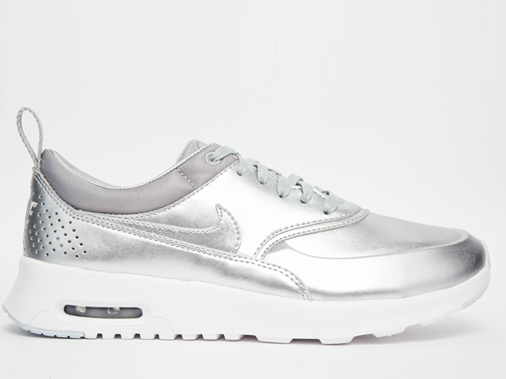 first rate 96215 6b4ef Nike Silver Air Max Thea Trainers. £95 ...