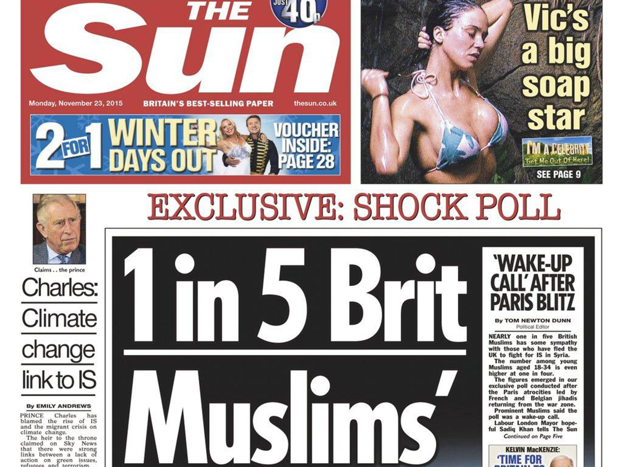 Sun forced to admit '1 in 5 British Muslims' story was ...