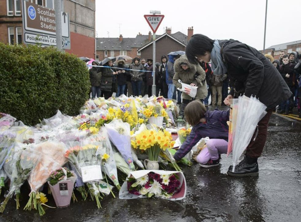 A vigil held in the memory of Glasgow shopkeeper Asad Shah.