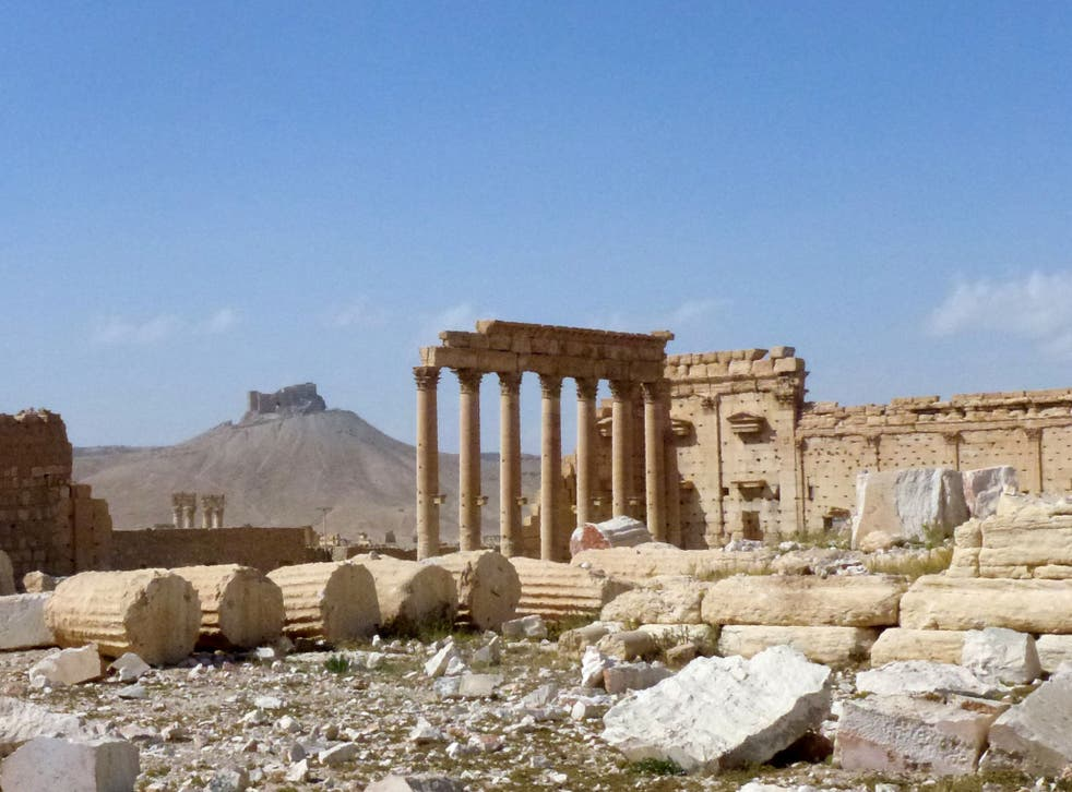 The ruins of Palmyra following Isis' rule for ten months