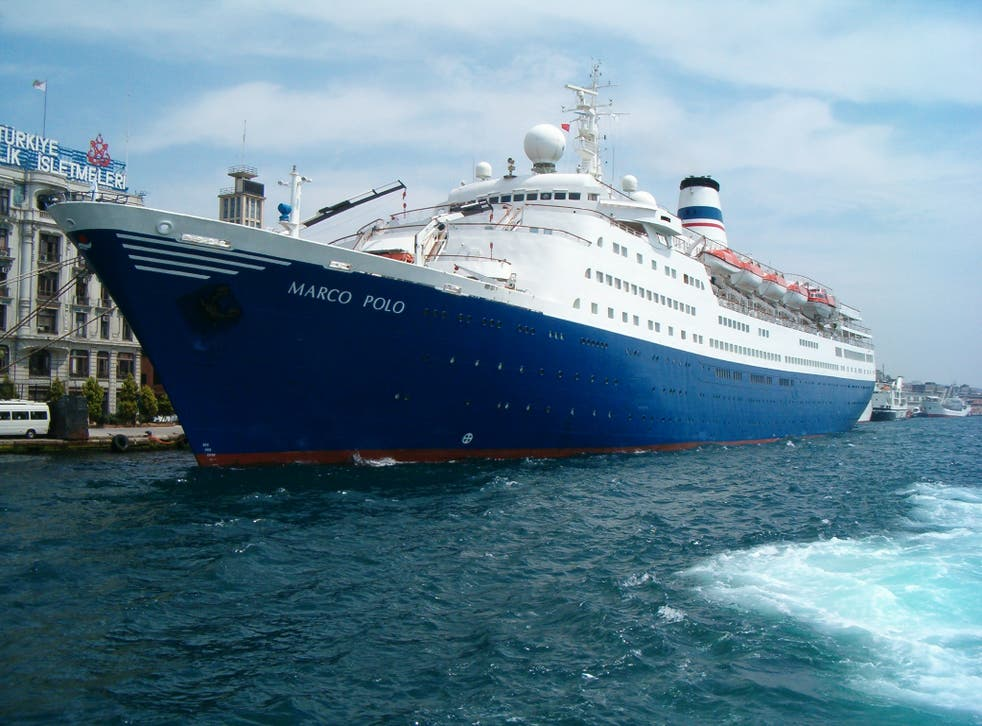 Ms Brown swam after the Marco Polo cruise liner believing her husband to be on it