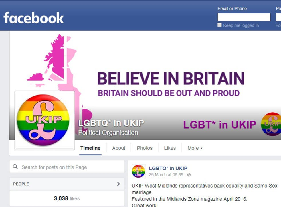 The comments were posted under a photo of London mayoral candidates on the LGBTQ* in UKIP Facebook page