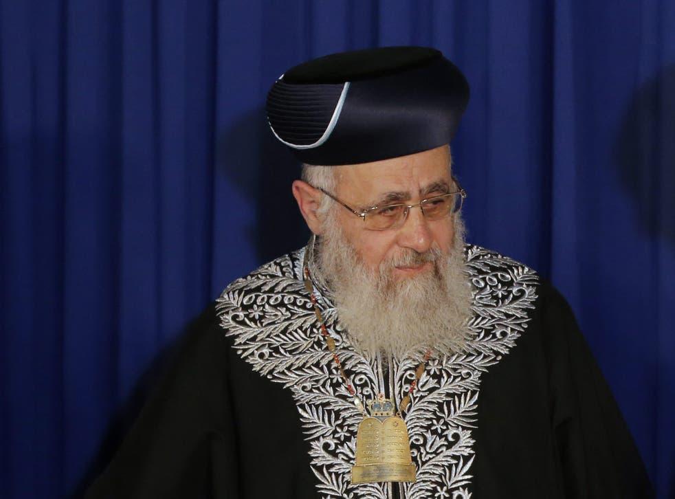 Israeli Sephardi Chief Rabbi Yitzhak Yosef