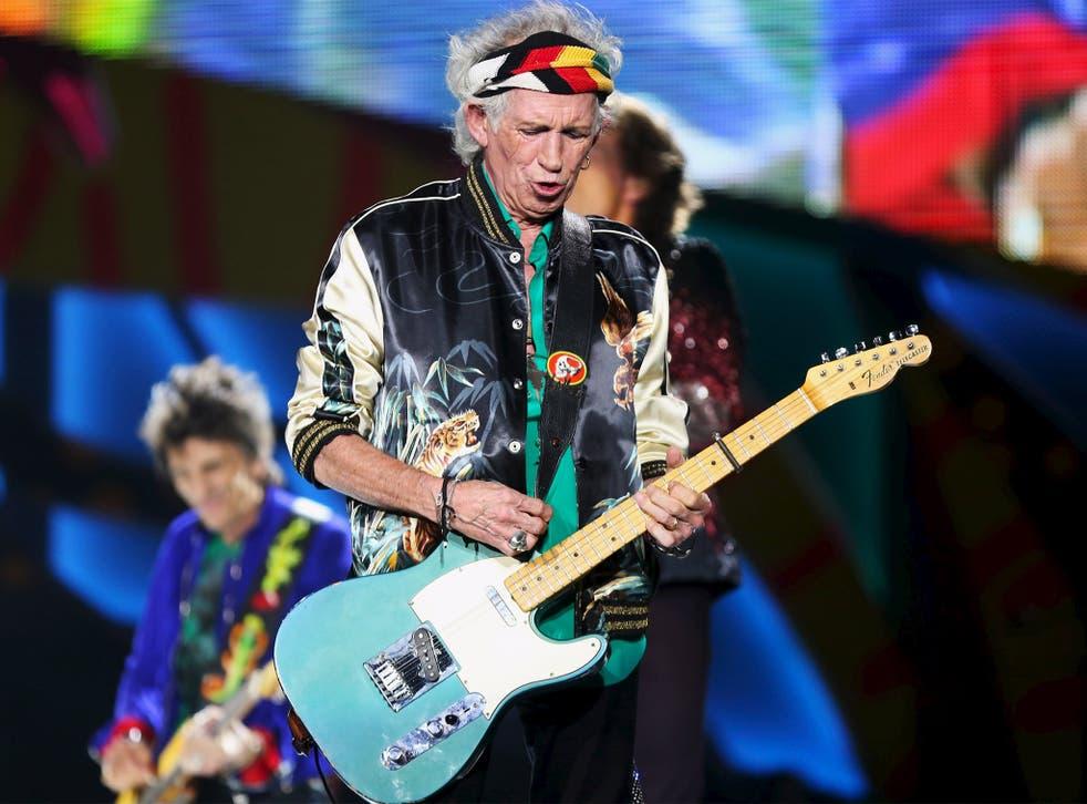 Richards performing in Havana at the weekend