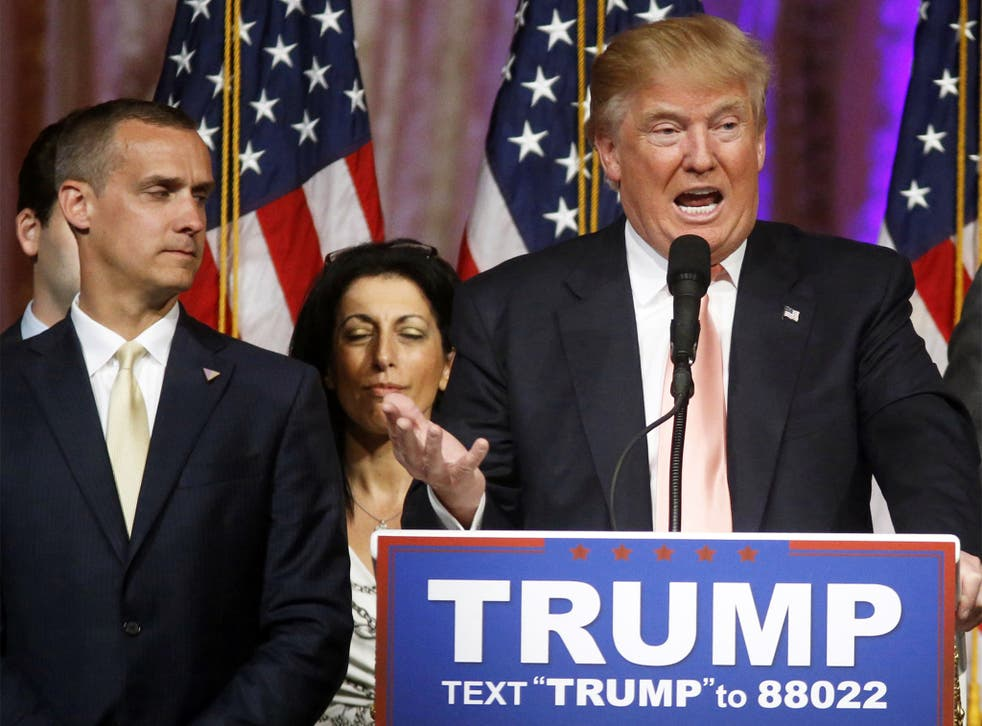 <p>Corey Lewandowski (pictured) and David Bossie have been appointed to the volunteer roles, and now need approval from Pentagon leadership</p>