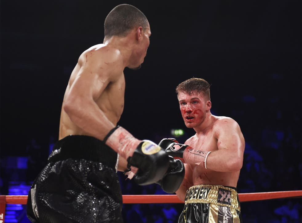 Nick Blackwell, right, was stopped on the doctor's advice in the 10th round