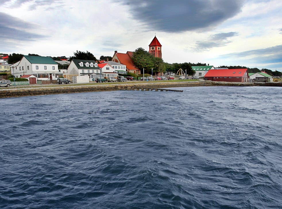 Port Stanley, the capital of the Falkland Islands