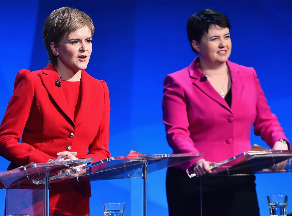 Nicola Sturgeon, left, and Ruth Davidson have published details of their tax returns