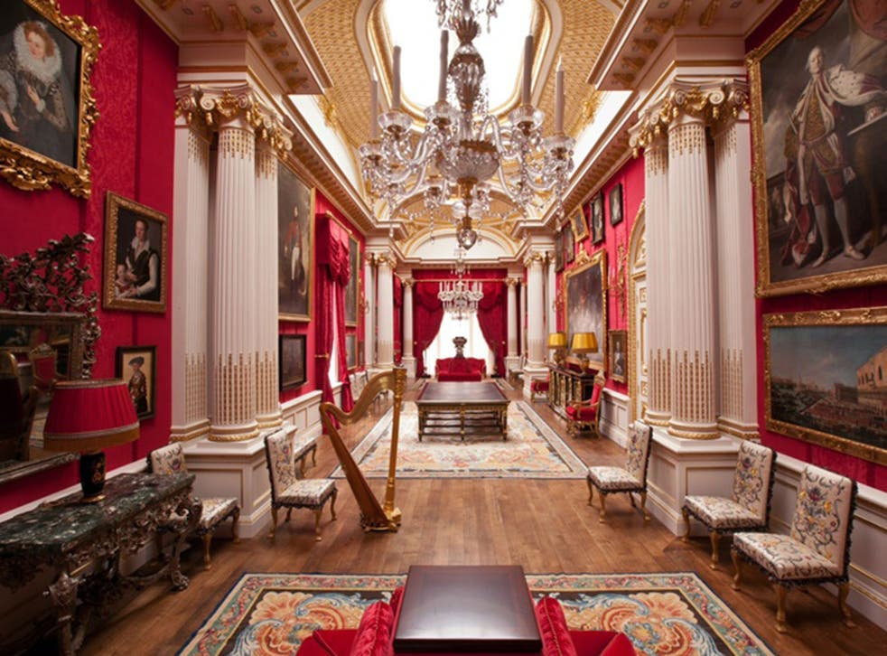 The interior of the £200 million Dudley House on Park Lane, the London home of Sheikh Hamad bin Abdullah Al Than, the cousin of Qatar's emir