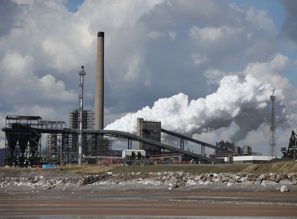 The Tata Steel plant at Port Talbot in Wales. Indian owners Tata Steel have put their British business up for sale placing thousands of jobs at risk and hitting the already floundering UK steel industry