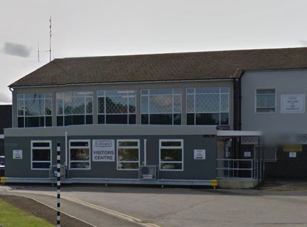 The visitor's centre at HMP Coldingley, Woking, Surrey