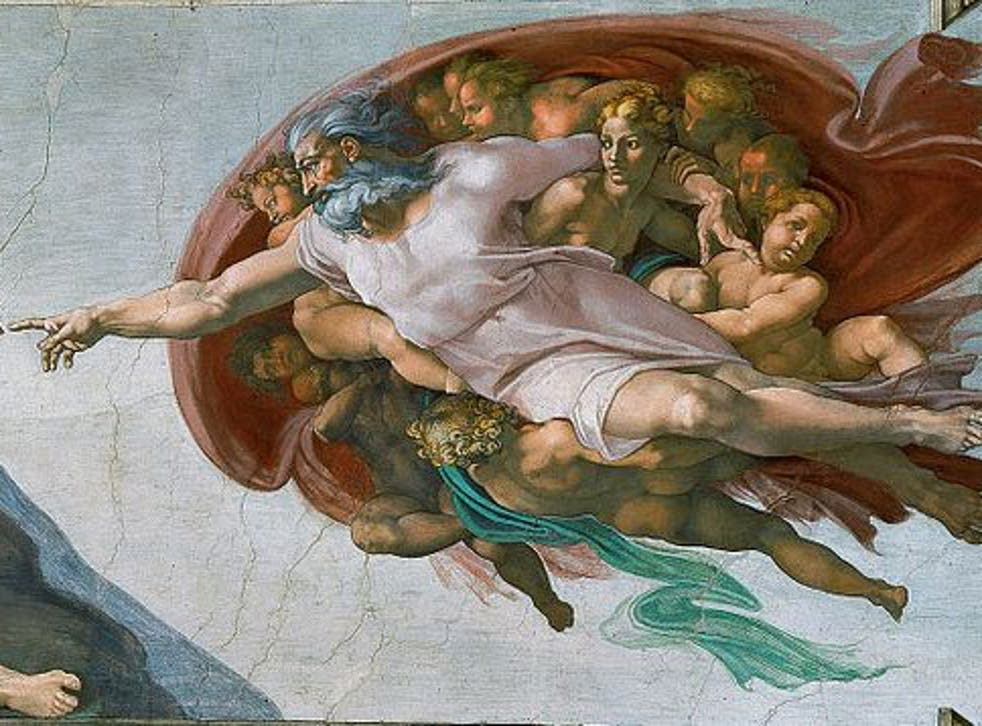 God pictured in MichaelAngelo's 'Creation of Adam'