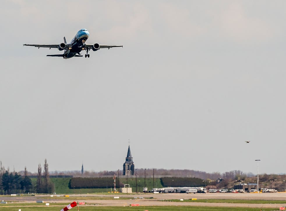 A Brussels Airlines plane takes off at Brussels Airport, in Zaventem, Belgium, Sunday, April 3, 2016