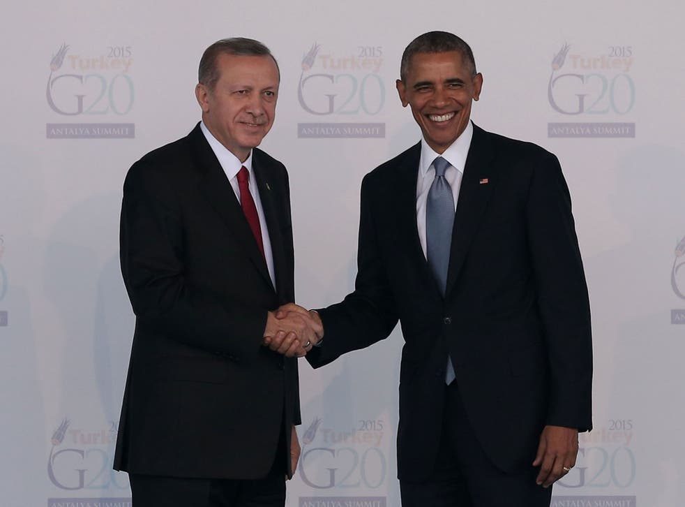 Mr Obama said he was 'troubled' by the media clampdown in Turkey